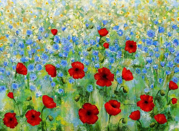Painting - Wildflower Rhapsody by Linda Rauch