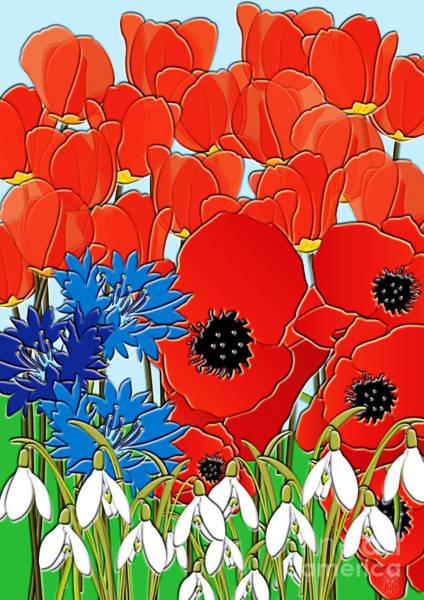 Wild Poppies Digital Art - Wildflowers by Neil Finnemore