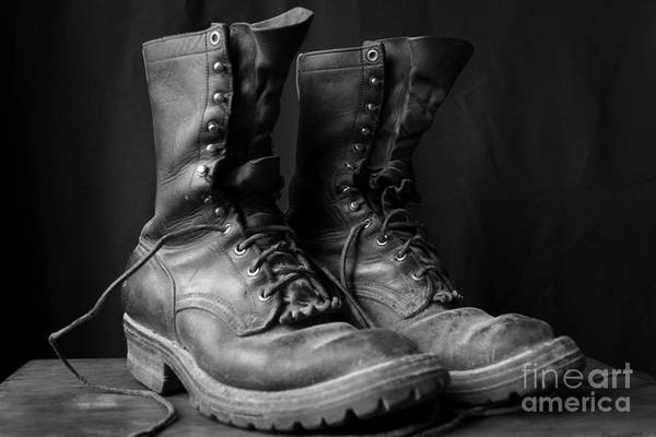 Photograph - Wildland Fire Boots Still Life by Kerri Mortenson