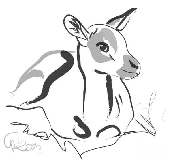 Painting - Wildlife Bambi by Go Van Kampen