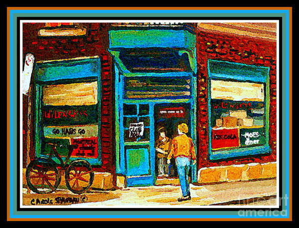 Painting - Wilenskys Art Famous Blue Door Posters Prints Cards Originals Commission Montreal Painting Cspandau  by Carole Spandau