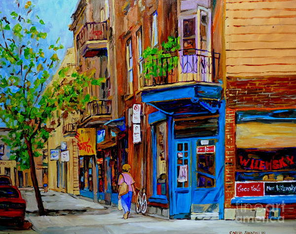 Diners Club Painting - Wilensky's Diner And Snack Bar by Carole Spandau
