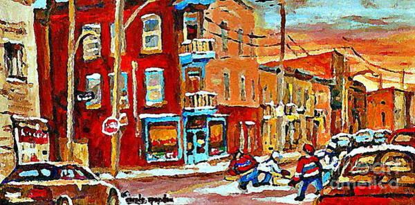 Diners Club Painting - Wilenskys Paintings Hockey Art Prints Originals Commissions Contact Popular Montreal Artist Cspandau by Carole Spandau