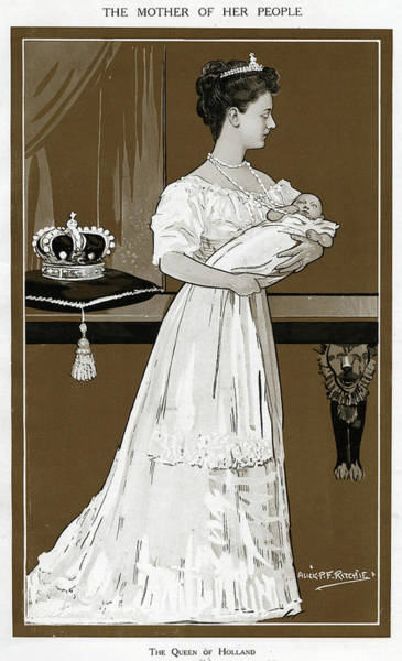 Wall Art - Drawing - Wilhelmina, Queen Of Holland (1880 - by Mary Evans Picture Library
