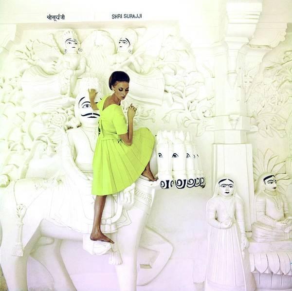 Wall Art - Photograph - Wilhelmina Wearing A Christian Dior Dress by Henry Clarke