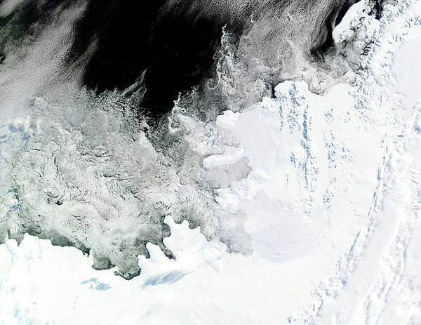 Shelf Cloud Photograph - Wilkins Ice Shelf by Nasa/science Photo Library
