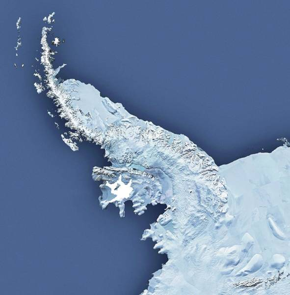 Disintegration Wall Art - Photograph - Wilkins Ice Shelf On Antarctic Peninsula by British Antarctic Survey/science Photo Library