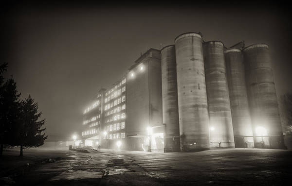 Patapsco Photograph - Wilkins Rogers Mills At Night by Geoffrey Baker