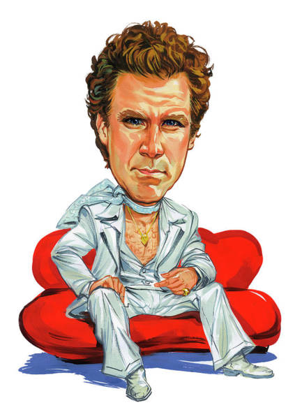 Super Wall Art - Painting - Will Ferrell by Art