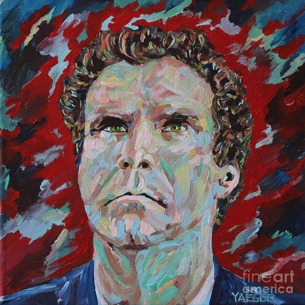 Blue Oyster Cult Wall Art - Painting - Will Ferrell Portrait by Robert Yaeger