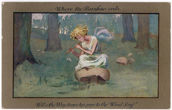 Folklore Drawing - Will O' The Wisp Tunes His Pipe by Mary Evans Picture Library