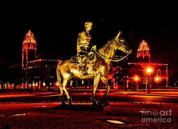 Photograph - Will Rogers Statue And Bell Towers by Mae Wertz