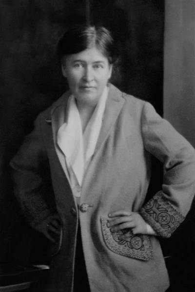 1921 Photograph - Willa Cather Wearing A Jacket by E. O. Hoppe