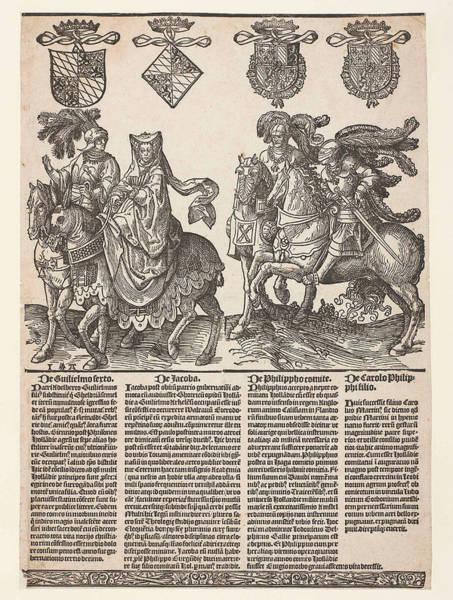 Nine Lives Drawing - Willem Vi, Jacoba Van Beieren by Jacob Cornelisz Van Oostsanen
