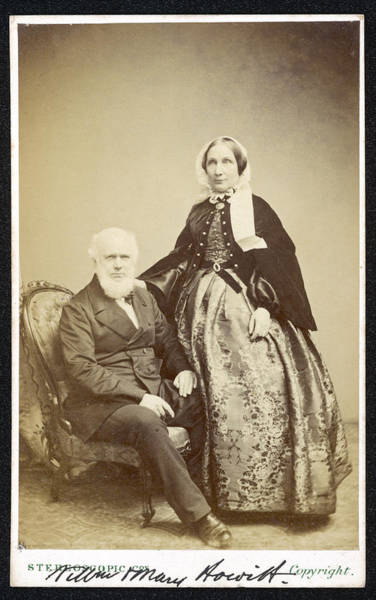William And Mary Photograph - William And Mary Howitt (mary Nee by Mary Evans Picture Library