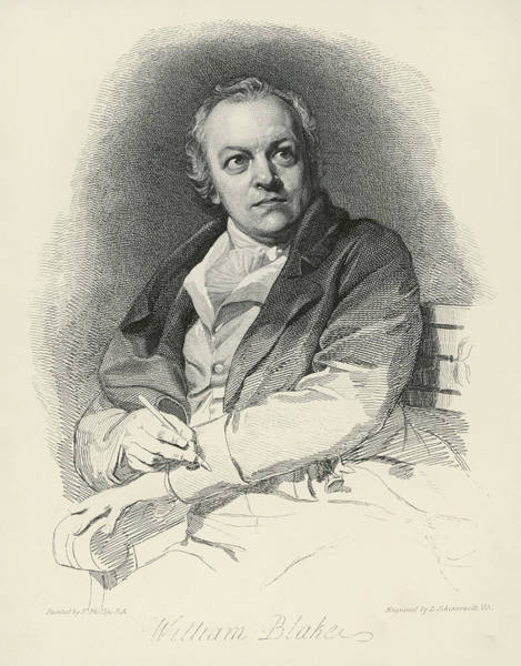 The Mystic Drawing - William Blake (1757-1827) Artist, Poet by Mary Evans Picture Library