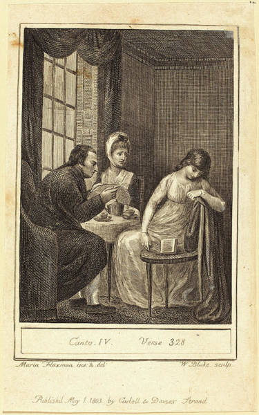 William Blake Drawing - William Blake After Mary Ann Flaxman, British 1757-1827 by Litz Collection