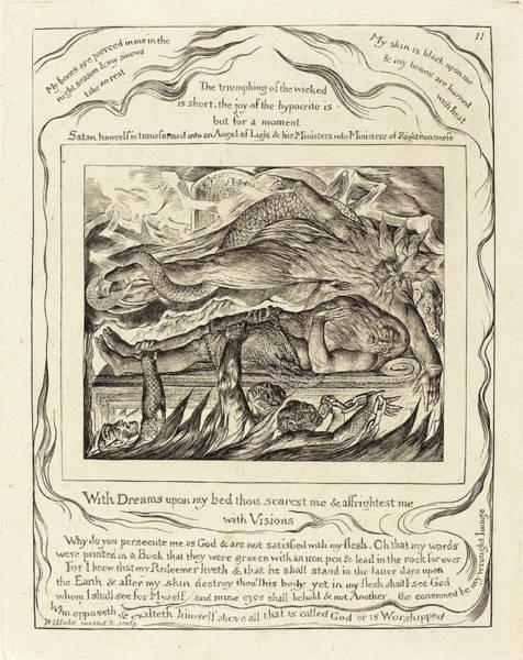 Wall Art - Drawing - William Blake British, 1757 - 1827, Jobs Evil Dreams by Quint Lox