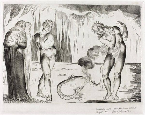William Blake Drawing - William Blake British, 1757 - 1827, The Circle by Quint Lox