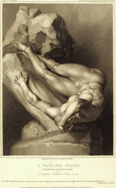 Stipple Drawing - William Bond After William Hilton I After Thomas Banks by Litz Collection
