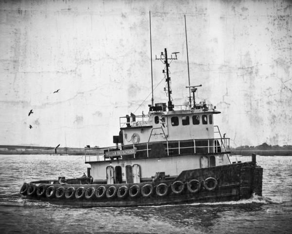 Tug Boat Photograph - William Breckinridge Black And White by Debra and Dave Vanderlaan