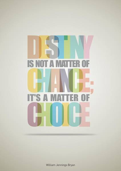 Wall Art - Digital Art - William Bryan Destiny Quotes Poster by Lab No 4 - The Quotography Department