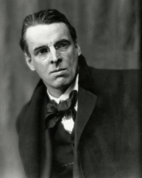 Poet Photograph - William Butler Yeats Wearing A Bowtie by Arnold Genthe