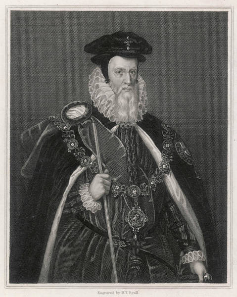 Wall Art - Drawing - William Cecil Lord Burghley  Statesman by Mary Evans Picture Library