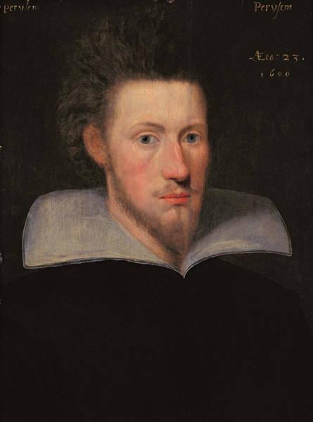 Goatee Photograph - William Drummond Of Hawthornden 1585-1649 1609 Oil On Panel by Scottish School