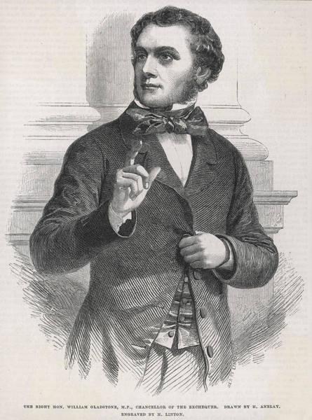 Gladstone Wall Art - Drawing - William Ewart Gladstone As Chancellor by  Illustrated London News Ltd/Mar
