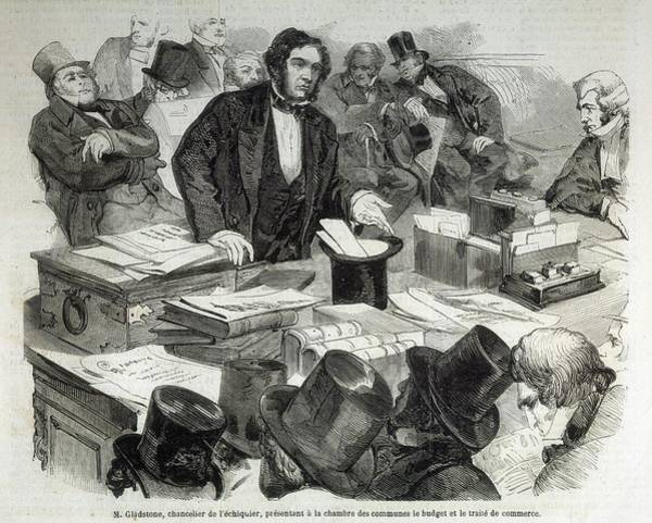 Gladstone Wall Art - Drawing - William Ewart Gladstone by Mary Evans Picture Library