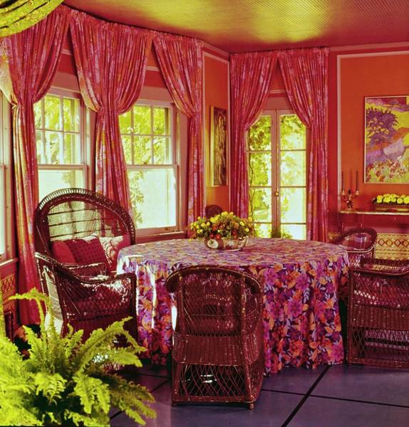 Wicker Chair Photograph - William F. Buckley Jr.'s Dining Room by Ernst Beadle