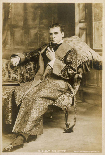 Conan Photograph - William Gillette American  Actor; Best by Mary Evans Picture Library