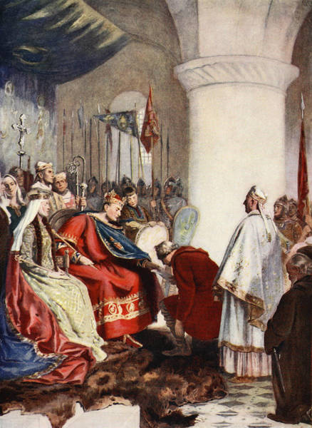 Royal Court Drawing - William Granting A Charter To The City by John Seymour Lucas