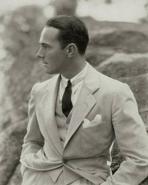 Male Photograph - William Haines Wearing A Three-piece Suit by Edward Steichen