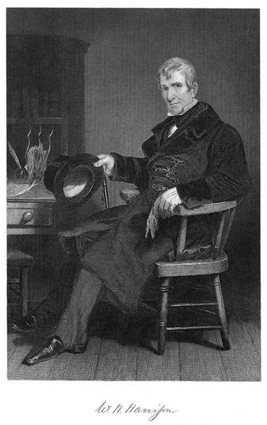 Wall Art - Drawing - William Henry Harrison (1773-1841), 9th by Mary Evans Picture Library