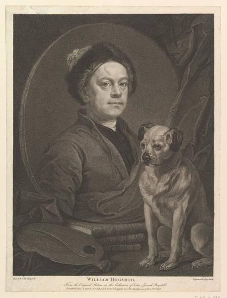Stipple Drawing - William Hogarth by After William Hogarth