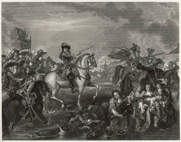 Bugling Drawing - William IIi Of Orange At The Battle Of by Mary Evans Picture Library