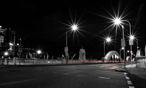 Photograph - William Jolly Bridge At Night by Parker Cunningham