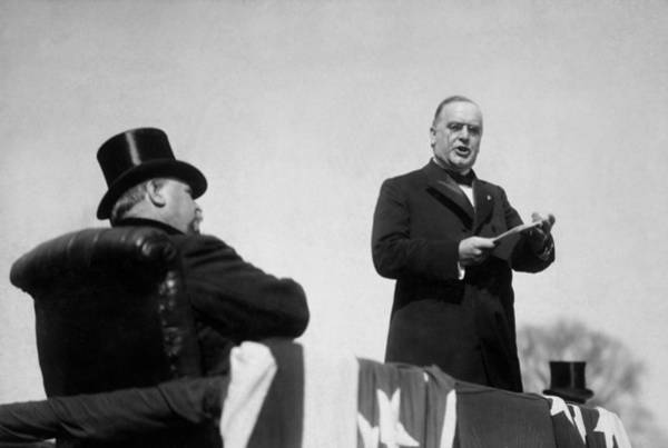 Republican Photograph - William Mckinley Making His Inaugural Address by War Is Hell Store