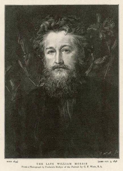 Wall Art - Drawing - William Morris  English Writer, Artist by  Illustrated London News Ltd/Mar