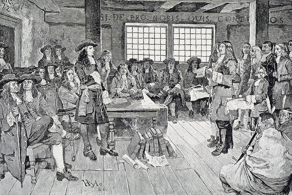 Brandywine Wall Art - Photograph - William Penn In Conference With The Colonists, Illustration From The First Visit Of William Penn by Howard Pyle