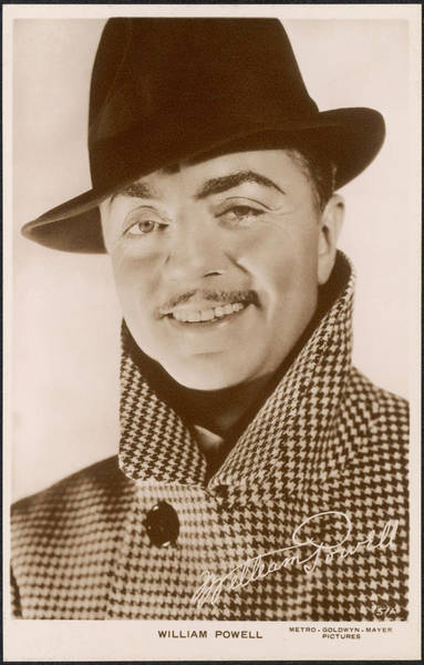 Wall Art - Photograph - William Powell  American Film Actor by Mary Evans Picture Library
