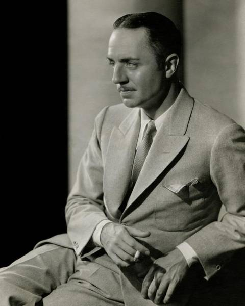 Male Photograph - William Powell Wearing A Suit by Barnaba