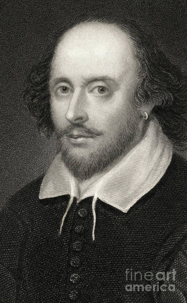Eye Drawing - William Shakespeare by English School