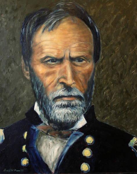 William Tecumseh Sherman Painting - William T. Sherman by Daniel W Green