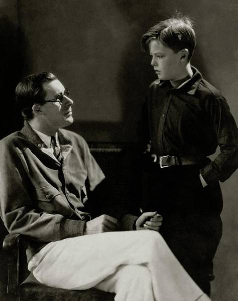 Eyewear Photograph - William Tilden With A Young Boy by Edward Steichen