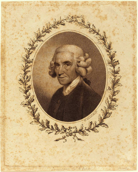 Stipple Drawing - William Ward, British 1766-1826, James Nares by Litz Collection