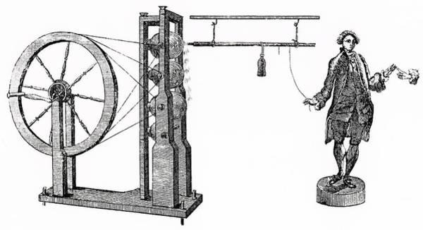 Watson Photograph - William Watson's Electrical Machine by Universal History Archive/uig