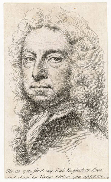 Wall Art - Drawing - William Whiston  Mathematician by Mary Evans Picture Library